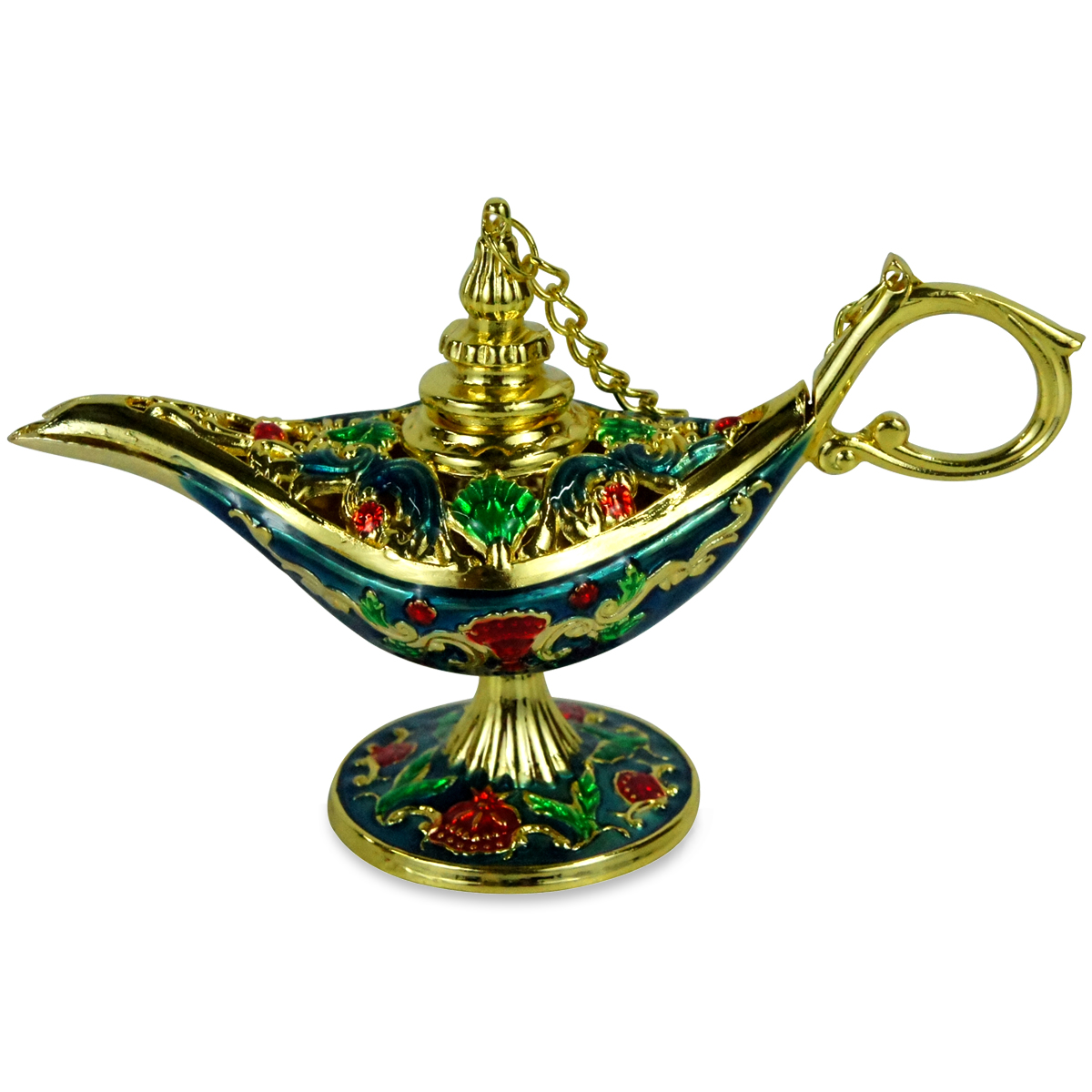 Ornate Aladin Magic Genie Lamp Oil Lamp Incense Burner