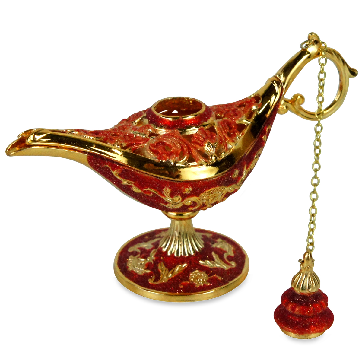 Ornate Aladdin Magic Genie Lamp Oil Incense Burner